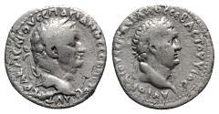 Ancient Coins - Vespasian with Titus as Caesar (69-79). Cappadocia, Caesarea-Eusebia. AR Didrachm. AD 76-7.