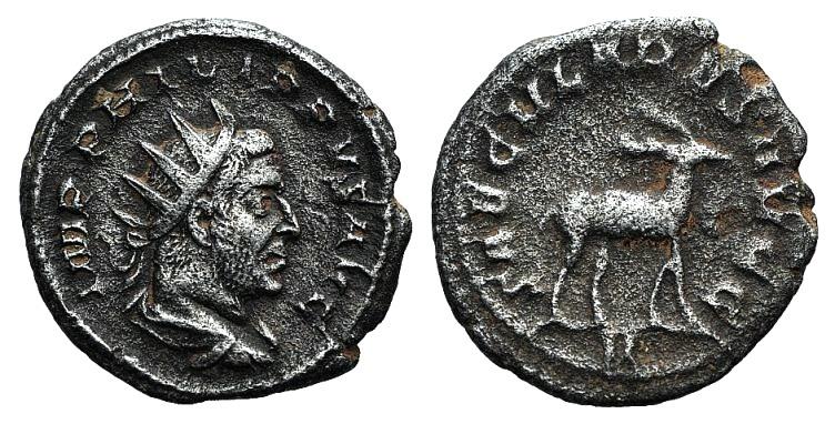 Ancient Coins - Philip I (244-249). AR Antoninianus. Saecular Games issue, 248. R/ Stag