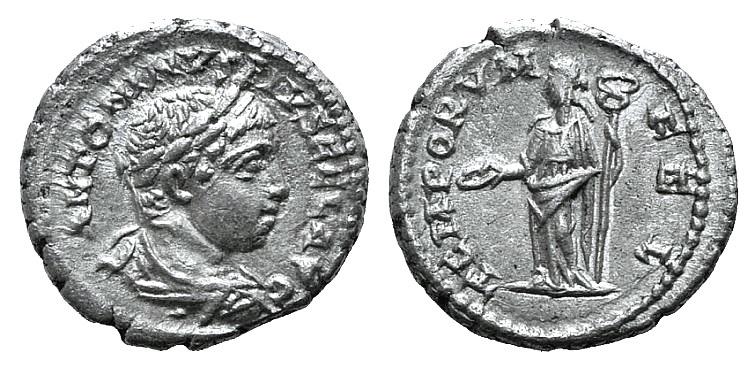 Ancient Coins - Elagabalus (218-222). AR Denarius. Antioch, 218-219.  R/ Felicitas