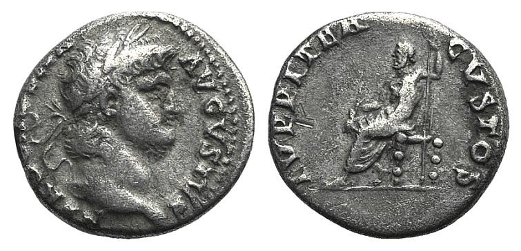 Ancient Coins - Nero (54-68). AR Denarius. Rome, c. 64-5. R/ Jupiter