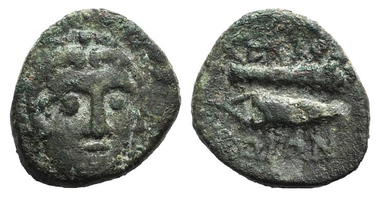 Ancient Coins - Islands of Caria, Kos, c. 210-180 BC. AE 16mm