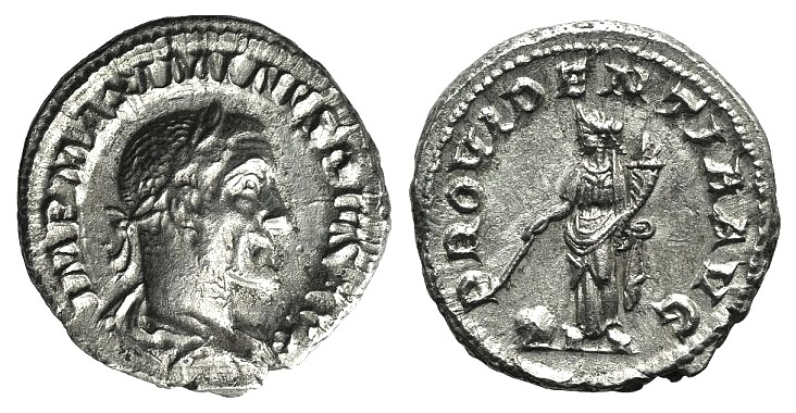 Ancient Coins - Maximinus I (235-238). AR Denarius. Rome, 236. R/ PROVIDENTIA