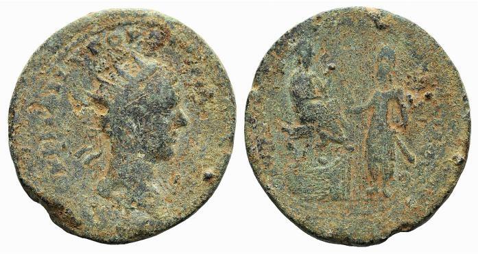 Ancient Coins - MESOPOTAMIA, Edessa. Gordian III, with Abgar X Phraates. AD 238-244. Æ 32mm RARE