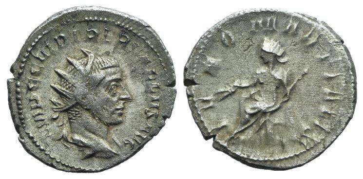 Ancient Coins - Trebonianus Gallus (251-253). AR Antoninianus. Rome, 252. R/ Juno