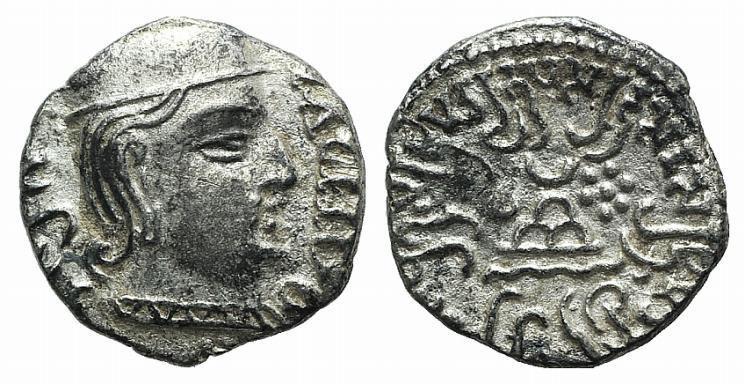 Ancient Coins - India, Western Satraps. Rudrasena (c. AD 199-222). AR Drachm