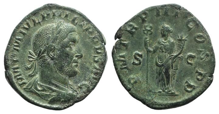 Ancient Coins - Philip I (244-249).  AE  Sestertius. Rome, 246