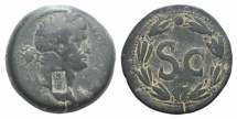 Ancient Coins - Domitian (81-96). Seleucis and Pieria, Antioch. Æ As c/m: Athena