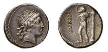 Ancient Coins - ROME REPUBLIC  L. Censorinus. 82 BC. AR Denarius NICE !!