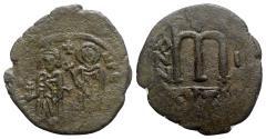 Ancient Coins - Phocas (602-603). Æ 40 Nummi - Cyzicus, year 1