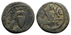 Ancient Coins - Phocas (602-610). Æ 20 Nummi - Carthage, year 5