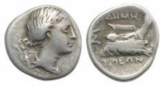 Ancient Coins - Thessaly, Demetrias, c. 290 BC. AR Hemidrachm