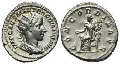 Ancient Coins - Gordian III (238-244). AR Antoninianus. Rome, 240-4.  R/ Concordia EXTREMELY FINE !!