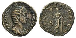 Ancient Coins - Julia Mamaea (Augusta, 222-235). Æ Sestertius. Rome, AD 228. R/ FELICITAS