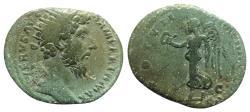 Ancient Coins - Lucius Verus (161-169). Æ Dupondius - Rome - R/ Victory