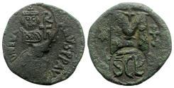 Ancient Coins - Heraclius (610-641). Æ 40 Nummi - Syracuse