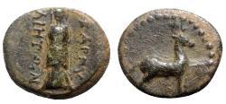 Ancient Coins - Caria, Bargylia, c. 2nd-1st century BC. Æ, Statue Artemis.