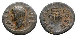 Ancient Coins - Domitian (Caesar, 69-81). Æ Quadrans - R/ Winged caduceus