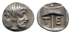 Ancient Coins - Islands of Troas, Tenedos, late 5th-early 4th century BC. AR Obol