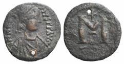 Ancient Coins - Anastasius I. 491-518. Æ Follis. Small module. RARE. ex Glendining 30/12/1947, lot 186