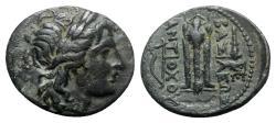 Ancient Coins - Seleukid Kings, Antiochos I Soter (281-261 BC). Æ - Apollo / Tripod