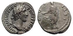 Ancient Coins - Antoninus Pius (138-161). AR Denarius - Rome - R/ Emperor sacrificing