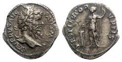 Ancient Coins - Septimius Severus (193-211). AR Denarius - Rome - R/ Emperor sacrificing