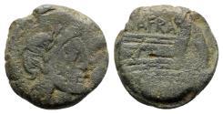 Ancient Coins - Spurius Afranius., Rome, 150 BC. Æ Semis - RARE