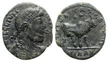 Ancient Coins - Julian II (360-363). Æ - Nicomedia - R/ Bull