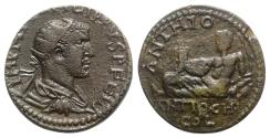 Ancient Coins - Philip I (244-249). Pisidia, Antioch. Æ - R/ The river-god Anthios