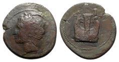 Ancient Coins - Sicily, Adranon, 339-336 BC. Æ Hemilitron - RARE