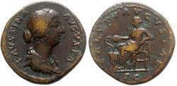 Ancient Coins - Faustina Junior (Augusta, 147-175). Æ Sestertius - Rome - R/ Salus