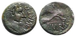 Ancient Coins - Spain, Carteia, c. 100-43 BC. Æ Quarter Unit - Quadrans