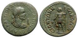 Ancient Coins - Gallienus (253-268). Pamphylia, Side. Æ 10 Assaria - R/ Apollo