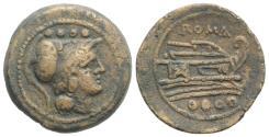 Ancient Coins - ROME REPUBLIC  Anonymous. After 211 BC. Æ Triens