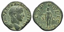 Ancient Coins - SEVERUS ALEXANDER. 222-235 AD. Æ Sestertius. Struck 231-235 AD. R/ SPES