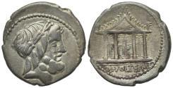 Ancient Coins - ROME REPUBLIC M. Volteius M.f., Rome, 78 BC. AR Denarius. R/ Temple of Jupiter Capitolinus