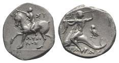Ancient Coins - ITALY, CALABRIA, Tarentum. Circa 272-240 BC. AR Nomos  Owl