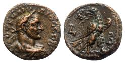 Ancient Coins - Claudius II (268-270). Egypt, Alexandria. BI Tetradrachm - year 2 - R/ Eagle
