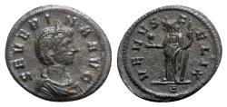 Ancient Coins - Severina (Augusta, 270-275). BI Denarius - Rome - R/ Venus