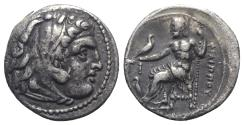 Ancient Coins - Kings of Macedon, Philip III Arrhidaios (323-317 BC). AR Drachm. In the name and types of Alexander III. Sardes, c. 322-319/8 BC.
