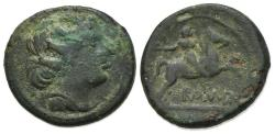 Ancient Coins - ROME REPUBLIC Anonymous, Rome, 217-215 BC. Æ Semuncia. R/ Horseman