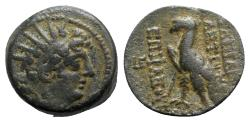 Ancient Coins - Seleukid Kings, Antiochos VIII (121/0-97/6 BC). Æ - Antioch - R/ Eagle