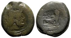Ancient Coins - C. Terentius Lucanus, Rome, 147 BC. Æ As