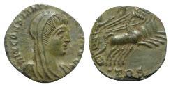 Ancient Coins - Divus Constantine I (died 337). Æ 13mm. Treveri, 337-340. R/ Emperor driving quadriga