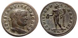 Ancient Coins - Constantius I (Caesar, 293-305). Æ Follis - Aquileia - R/ Genius