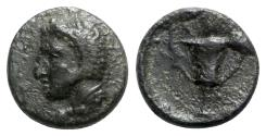 Ancient Coins - Thessaly, Skotoussa, mid-late 4th century BC. Æ Chalkous