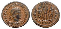 Ancient Coins - Constantius II (Caesar, 324-337). Æ - Antioch - R/ Soldiers