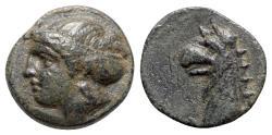 Ancient Coins - Ionia, Phokaia, c. 300 BC. Æ - Female head / Griffin head