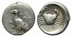 Ancient Coins - Sicily, Akragas, c. 480/478-470 BC. AR Didrachm. EAGLE / CRAB