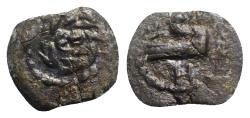 Ancient Coins - Judaea, Herod II Archelaos (4 BCE-6 CE). Æ Half Prutah